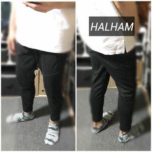 HALHAM黒スウェットパンツジョガーパンツイージーパンツトラックパンツテーパー