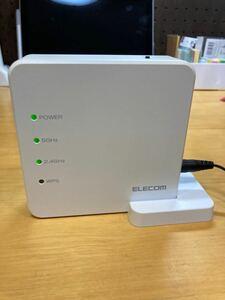 エレコム (ELECOM) 無線LANルーターです。通電確認済み 黄ばみ有りの為 お安くしております。