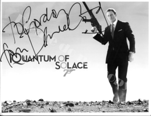 2008年公開映画 007 Quantum of Solace  慰めの報酬  ジェームズ・ボンド Daniel Craig ダニエル・クレイグ サインフォト