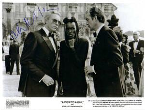 1985年 A View to a Kill 007 美しき獲物たち Christopher Walken マックス・ゾーリン役 クリストファー・ウォーケン サイン フォト