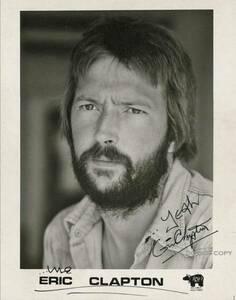 1990年 Eric Clapton エリック クラプトン サイン フォト
