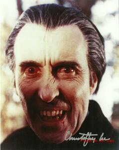 Dracula 吸血鬼ドラキュラ クリストファー・リー サイン フォト 他、1枚付き