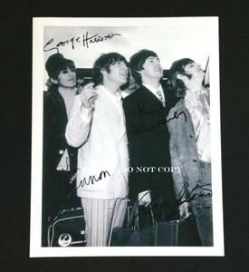 1966年日本公演時 ザ・ビートルズ オールメンバー サイン フォト