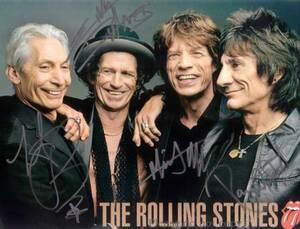 The Rolling Stones ローリング・ストーンズ オールメンバー サインフォト