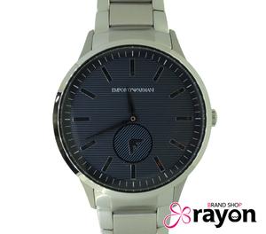 エンポリオアルマーニ EMPORIO ARMANI SS クォーツ 電池式 ダークグレー文字盤 腕時計 AR-11118 メンズ Aランク 美品 即決【RAYON】