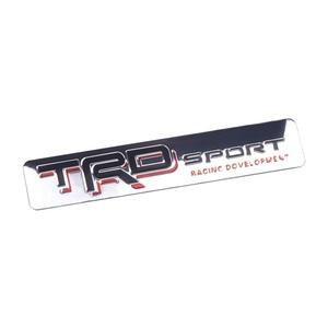 【送料込・在庫有】TRD エンブレムプレート 縦1.7cm×横8.2cm アルミ製 TOYOTA トヨタ 5