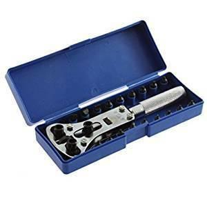 ケース付時計工具 防水時計用 裏フタ開け器 電池交換用 高級3点支持オープナー
