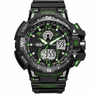 SMAEL(スマエル) 腕時計 メンズ SMAEL腕時計 メンズウォッチ 防水 スポーツウォッチ アナログ表示 デジタル 多機能