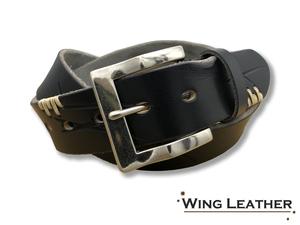 新品 イタリアンレザー カジュアルベルト 本革 牛革 刺繍 メンズ レディース 黒 ブラック 40mm 無地 レザー ネジ式 GTC023BK
