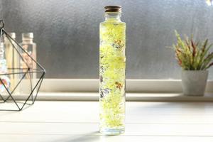 ハーバリウム グリーン HYDRANGEA オブジェ 飾り プリザーブドフラワー 花 観葉植物 置物 完成品 セット 瓶 オイル 花材 キット 敬老の日
