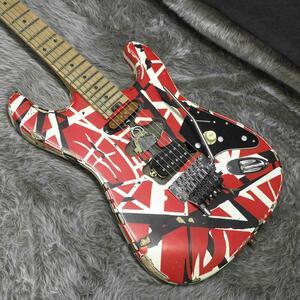 新品 EVH Striped Series Frankenstein Frankie MN Red with Black Stripes Relic