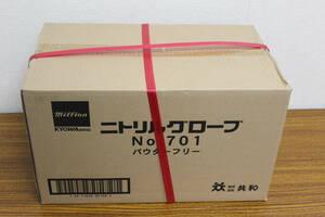 未使用 未開封 ニトリルグローブ 共和 手袋 / LH-701-M / 300枚 × 10箱 入り 計 3000枚 M サイズ 大量 激安1円スタート