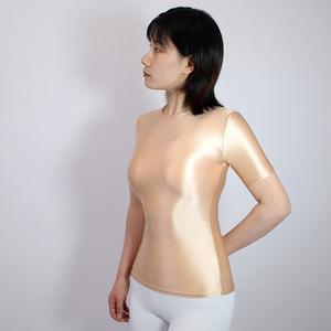 【2020夏最新作】コスプレ衣装 半袖レオタード 伸縮性あり レースクイーンレオタード ベージュ 3XLサイズ