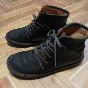 人気モデル【トリッペン Trippen】切り替えレザーミドルカットシューズ ブーツ スニーカー ダークブラウン 41 メンズ CAMPERBIRKENSTOCK
