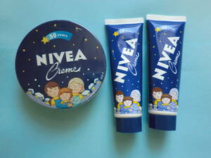 ★ NIVEA 二べア ニベア缶 大缶+チューブ2本 二べアクリーム ハンドクリーム さくらももこデザイン スキンケアクリーム