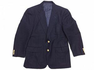 ケント Kent in Tradition トラッド 金ボタン ブレザー テーラードジャケット メンズ ウール100% センターベント 総裏地 90A4 紺