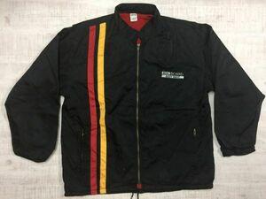 良デザイン! ボディウェーブ BODY WAVE ストリート スポーツ レーシングジャケット メンズ ナイロン100% 裏起毛 すそドローコード L 黒