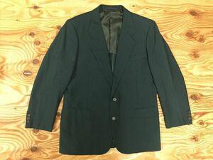 良色! 英國屋 Eikokuya オーダーメイド ノッチドラペル シングル センターベント レトロ 良色 テーラードジャケット メンズ 緑