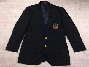 アーバンクラブ URBAN CLUB カントリークラブ ワッペン 金ボタン 2B 紺ブレザー テーラードジャケット メンズ 日本製 96AB6 紺