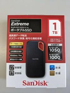 ポータブルSSD SanDisk Extreme SSD1TB SDSSDE61-1T00