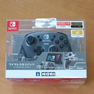 Nintendo Switch ワイヤレス ホリパッド コントローラー グレー ライセンス商品