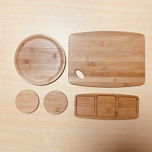 【5点セット】バンブー カッティングボード 食器 キャンプ 竹 木製