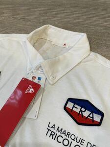 新品 ルコック ポロシャツ メンス ゴルフ Lサイズ 白ホワイト le coq QMMPJA41AP スポーツウェア ゴルフウェア le coq sportif