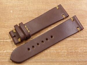 栃木レザー チョコレート 時計バンド サイズオーダー ヴィンテージステッチ 16mm 17mm 18mm 19mm 20mm 21mm 22mm 23mm など