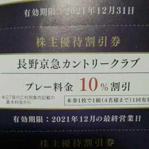 長野京急カントリークラブ 10%割引券
