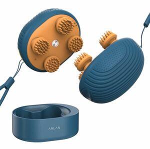 電動頭皮ヘッドブラシ IPX7防水 振動 3D技術 頭皮洗浄 2段階 乾湿両用