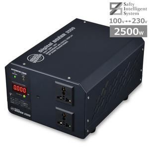 abroad domestic for 2500W Max transformer AC100V = 220V 230V 240V digital Boxer 2500 up step down transformer world the first SIS installing used beautiful goods