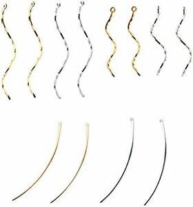 ゴールド シルバー 【Za-Bi (ザ-ビ) 】ひねりチャーム 大小 スティック チャーム 3種類 2色セット/ ゴールド シル