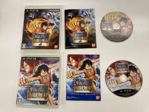 21-PS3-191 プレイステーション3 ワンピース海賊無双1.2 セット 動作品 プレステ3