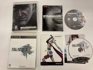 21-PS3-205 プレイステーション3 ファイナルファンタジー13 メタルギアソリド4 セット 動作品 プレステ3