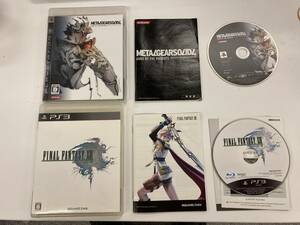 21-PS3-253 プレイステーション3 メタルギアソリッド4 ファイナルファンタジー13 動作品 プレステ3