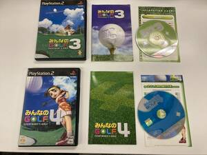 21-PS2-908 プレイステーション2 みんなのゴルフ セット 動作品 プレステ2