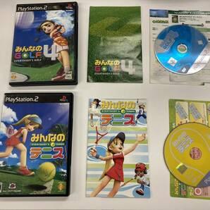 21-PS2-910 プレイステーション2 みんなのゴルフ みんなのテニス セット 動作品 プレステ2