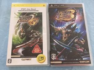 21-PSP-227 プレイステーションポータブル モンスターハンターポータブル2nd G the Best版、3rd セット 動作品 PSP