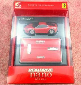 送350円~ リアル精密! シーシーピー「REALDRIVE nano F430 Ferrari」1/58 RC ラジオコントロールカー フェラーリ スーパーアメリカ 外車