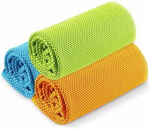 (3枚セット)冷却タオル スポーツタオル 瞬冷タイプ 熱中症対策 速乾 吸水性抜群 抗菌防臭 ひんやり感 UVカット アウトドア 山登り