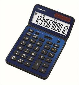 ★本日限り★ディープブルー 109mm×180mm×14mm シャープ 電卓50周年記念モデル ナイスサイズモデル ブルー系 E