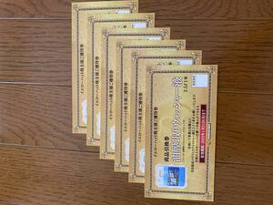 イエローハット 株主優待券 ウォッシャー液 引換券6枚(2.5×6本) 2022/1/31迄 送料無料(ミニレター対応)