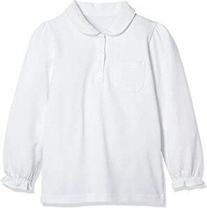 オフホワイト 110 [ベルメゾン] ガールズ長袖ポロシャツ(ゆったり) D84317