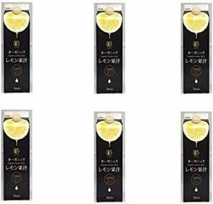 1000ml6本(1ケース) テルヴィス 有機レモン果汁 1000m紙パック×6本入