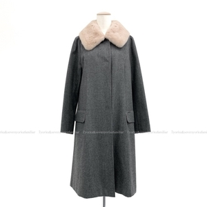 FOXEY フォクシー コート ローズミンク ウール 受注商品 グレー 38 36236-ACFG