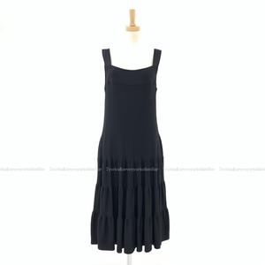 FOXEY フォクシー ティアードニットドレス ワンピース ブラック 40 38792-KAOFN