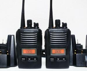 STANDARD 簡易業務用無線機 VX-581UCAT 2台ペア  充電器付セット