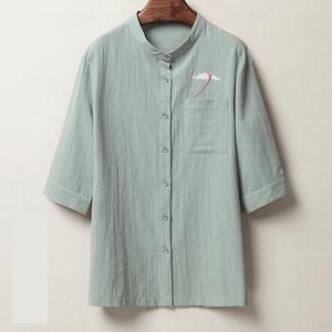 シャツ メンズ シャツ 七分袖 ボダンダウンシャツ 父の日 プレゼント メンズ カジュアル 40代 50代 おしゃれ /2XL グリーンDJ211