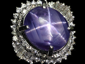 4005S【1円~】新品【RK宝石】≪Star Sapphire≫希少サイズ 非加熱スターサファイア 超特大15.96ct 極上ダイヤ 1.11ct Pt900 超高級リング