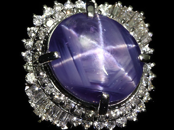 4005S【1円~】新品【RK宝石】?Star Sapphire?希少サイズ 非加熱スターサファイア 超特大15.96ct 極上ダイヤ 1.11ct Pt900 超高級リング
